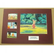 Winnie the Pooh PIGLET Signed and Mounted Collectors Display Set